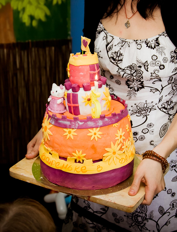 Тортик на юбилей моей старшей доченьки!