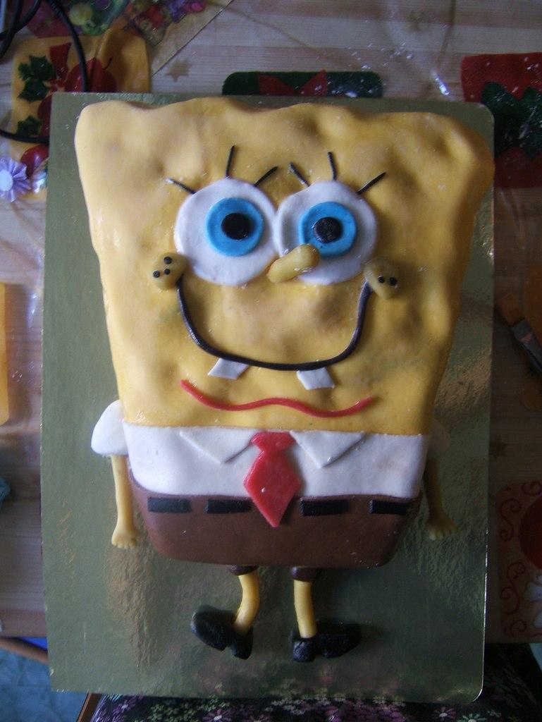 Торт Спанч-Боб!Ванильный и шоколад...