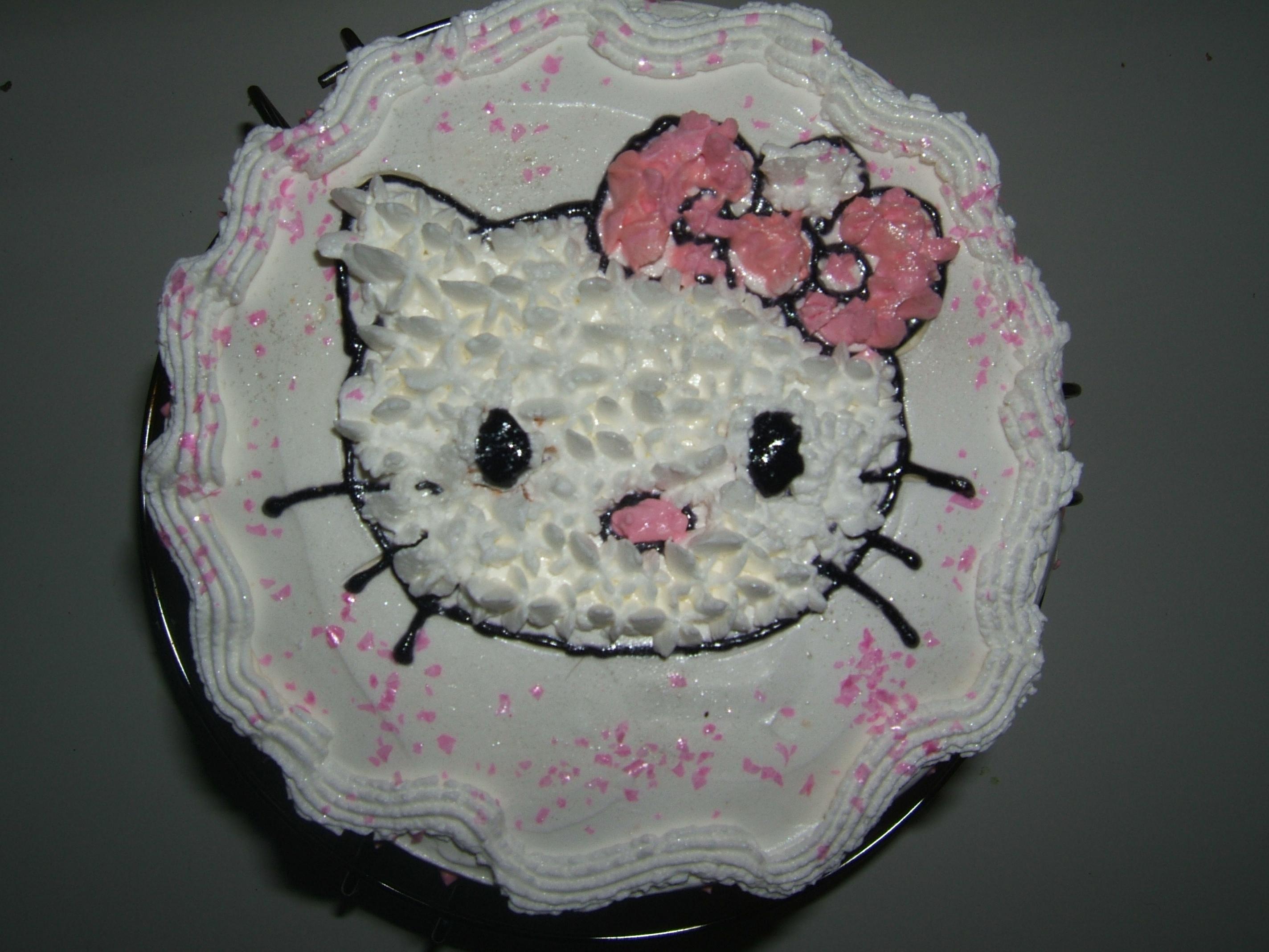 Кремовый тортик Hello Kitty!  Шифо...
