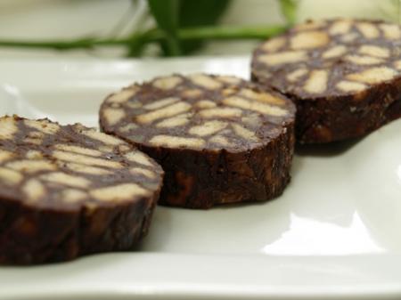 Сладкая шоколадная колбаска   Ингр...