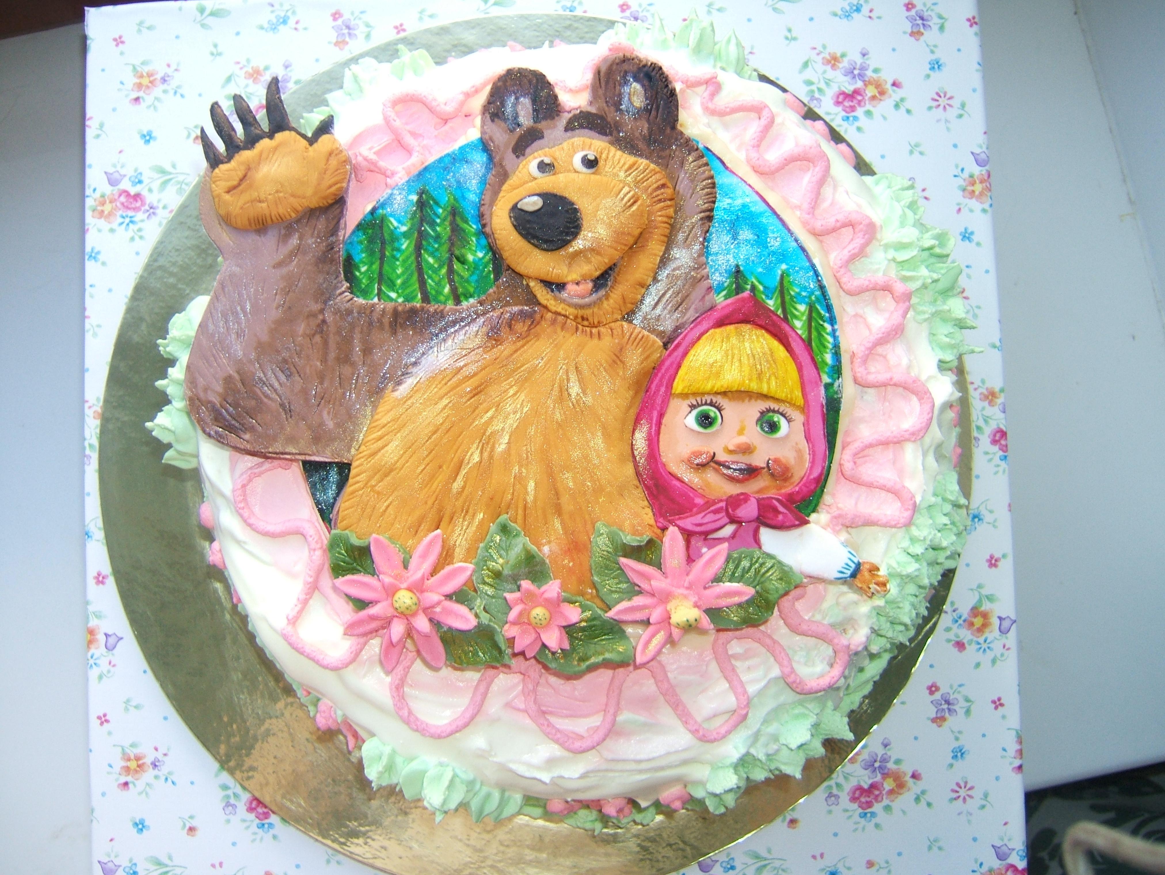 Тортик для малышки.Очень мягкий и нежный.
