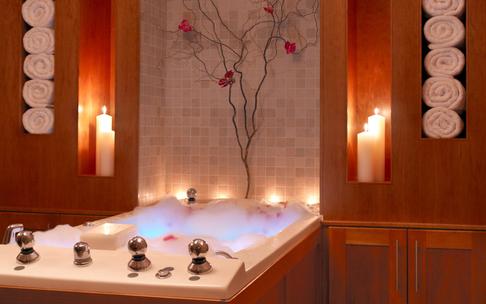 Дизайн интерьера ванной комнаты...