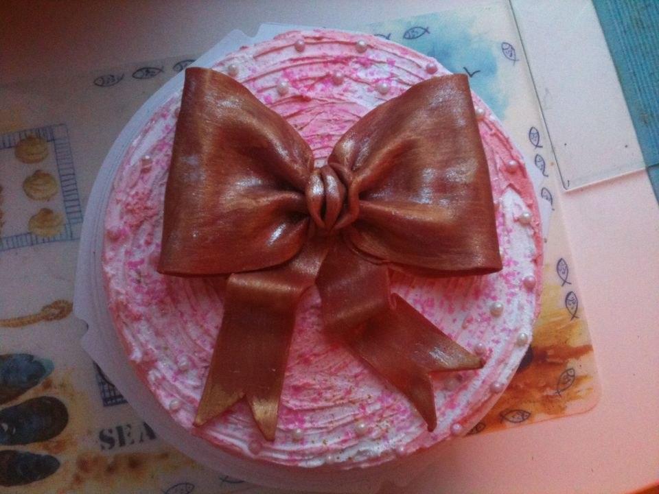 А вот и тортик!для мамы Ани и Поли...