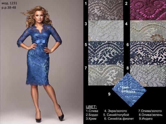 Шикарные кружевные платья - тренд...