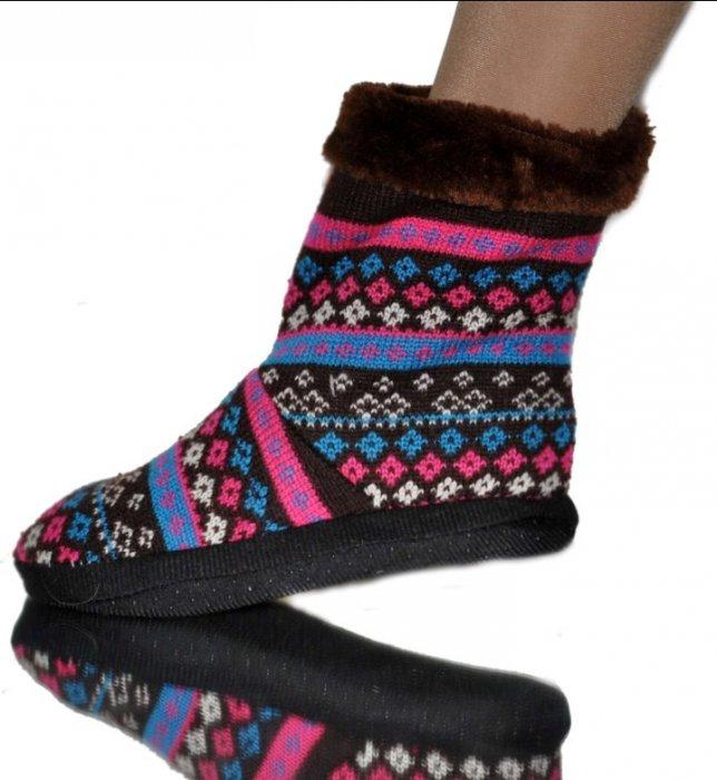 Теплые вязанные мелочи -носки-тапо...