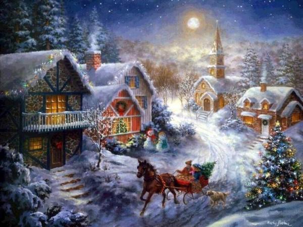 Открывайте шире двери,  Новый год...