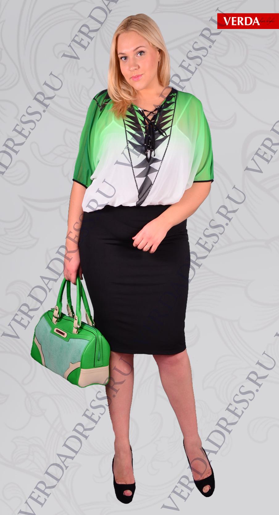 Стильная женская одежда больших ра...
