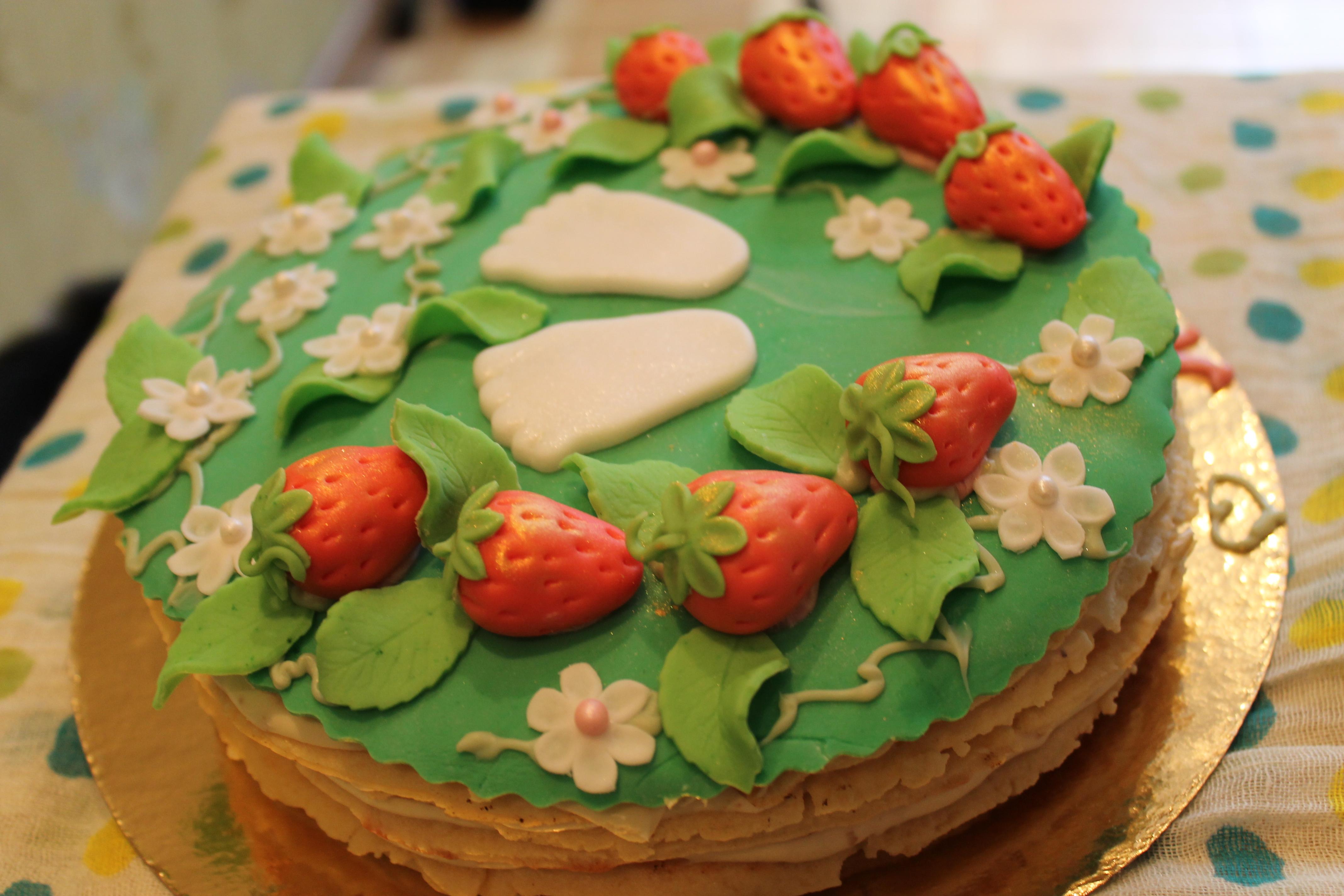 Быстрый тортик на годовасие крестницы)))