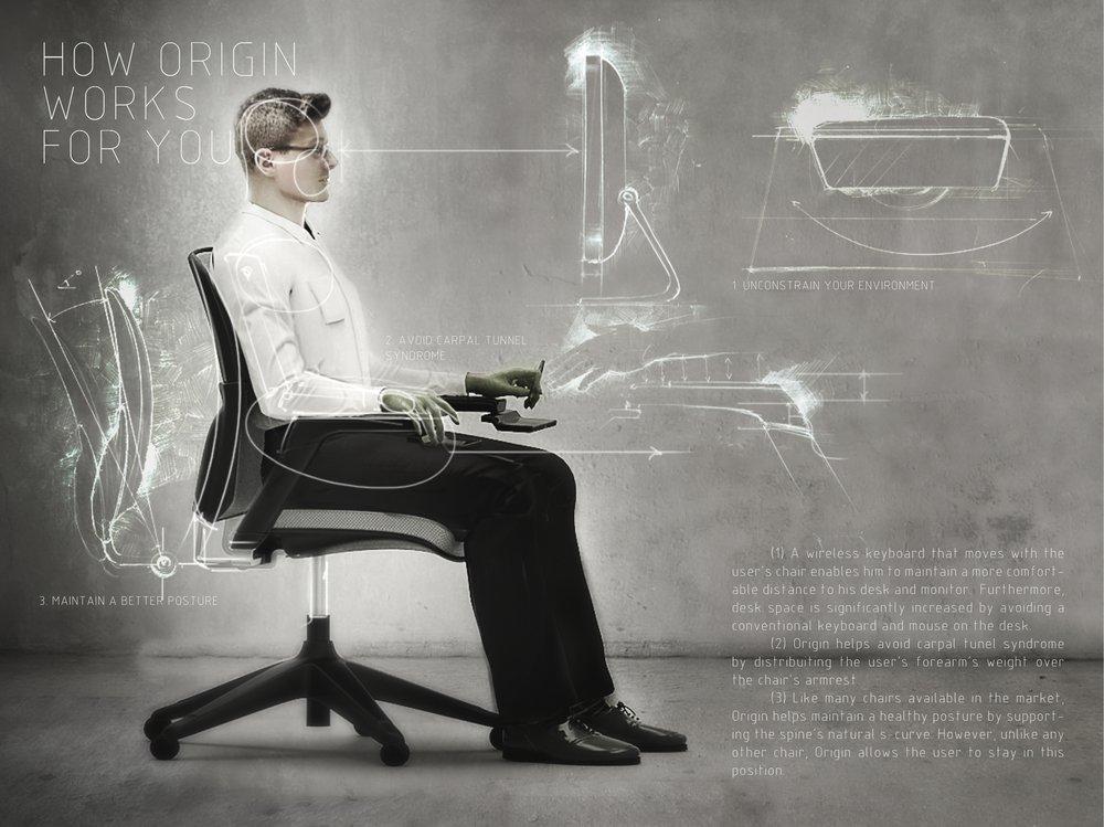Офисное кресло The Origin, оснащен...
