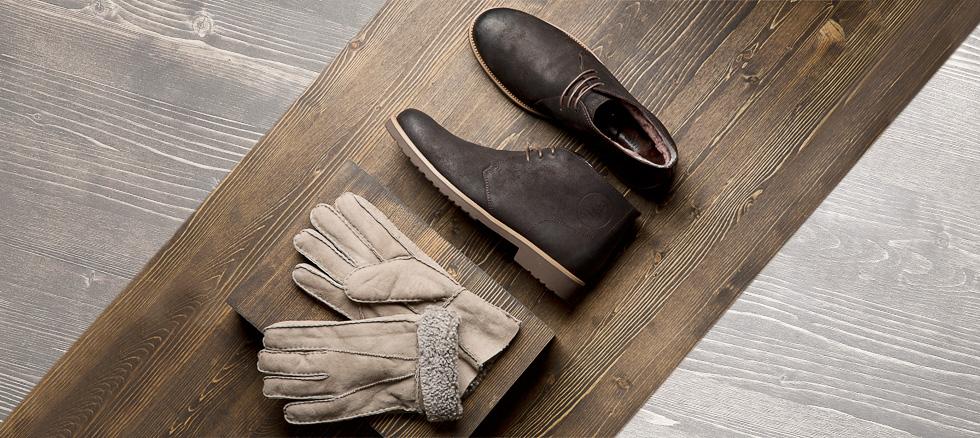 Настоящая мужская обувь немецкой Т...