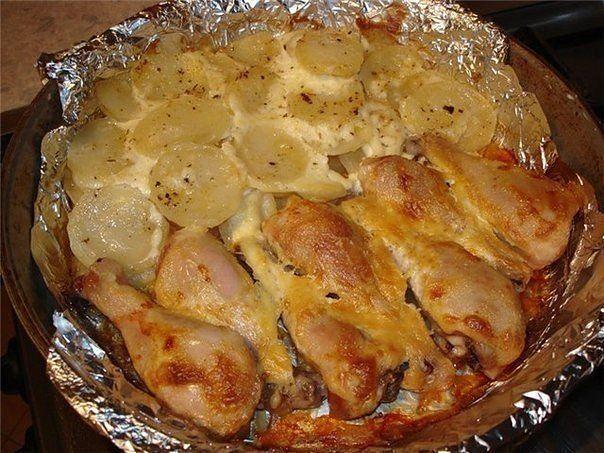 Куриные ножки с картофелем