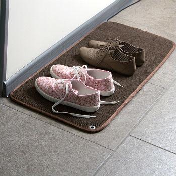 Теплый коврик для обуви и других в...