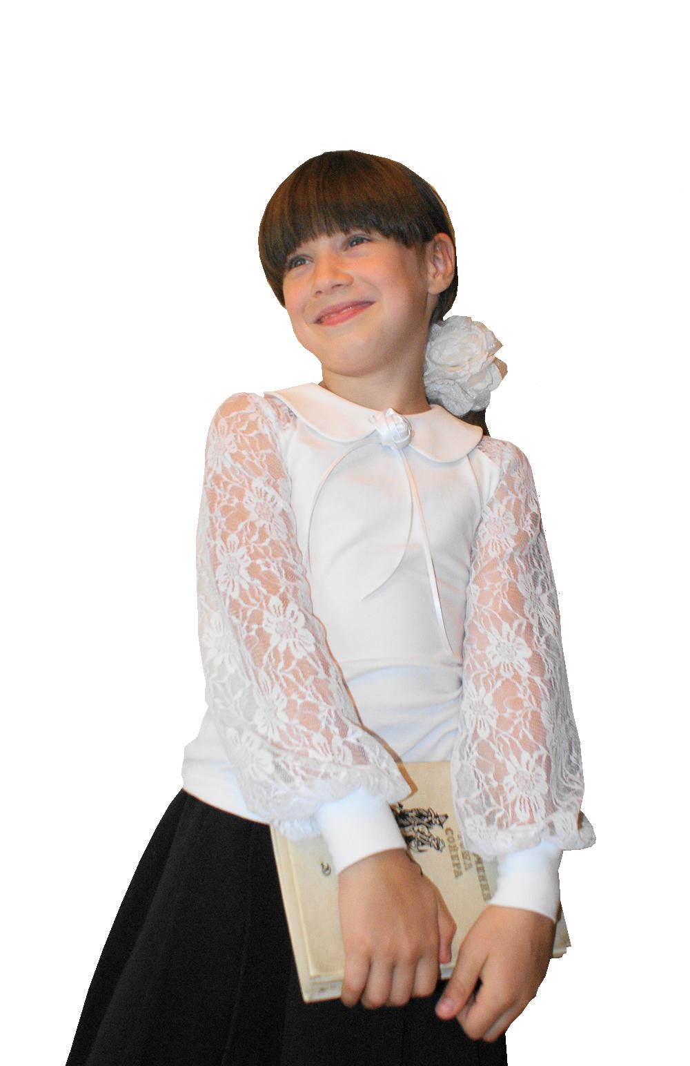 Купить Нарядную Белую Блузку Для Девочки В Школу