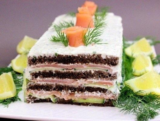 Торт из лосося   Ингредиенты:   зе...