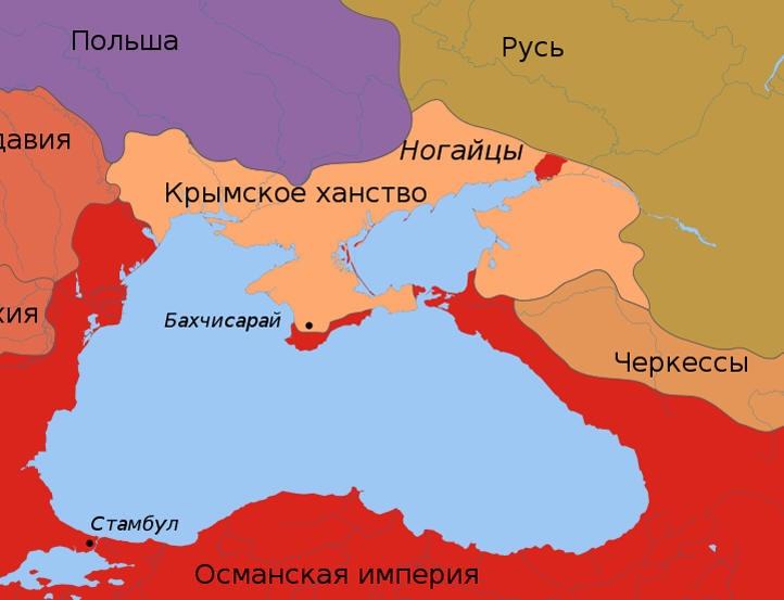 Крымское ханство, отколовшееся в 1...