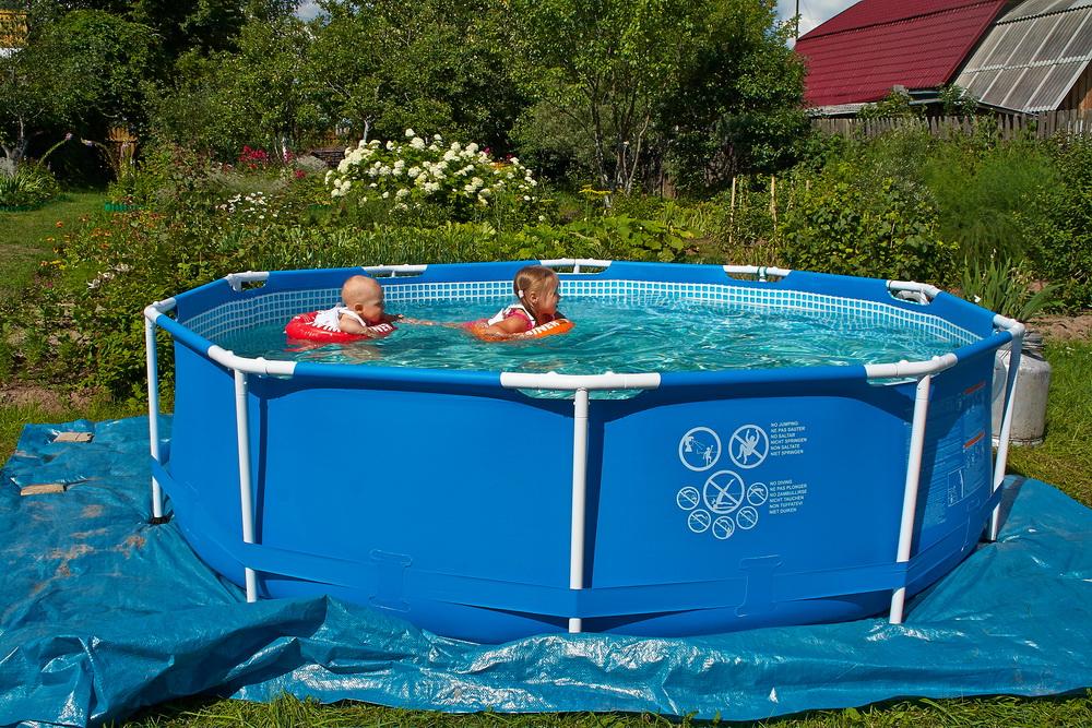 Эконом-вариант бассейна на дачу с...