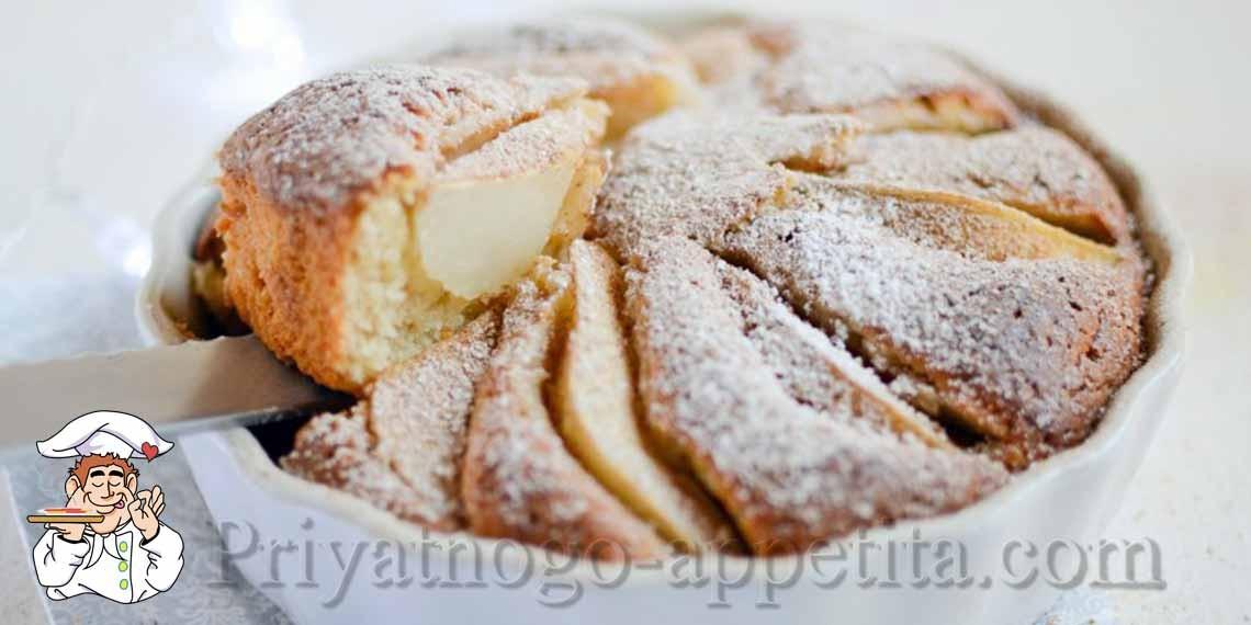Пирог с грушами – вкусная выпечка....