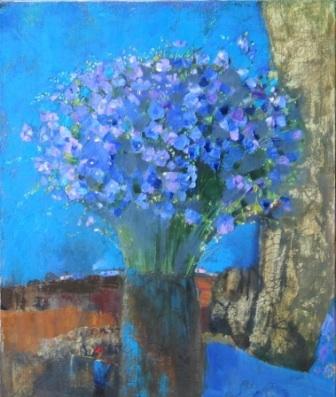 *****  Лен, голубой цветочек,  Ско...