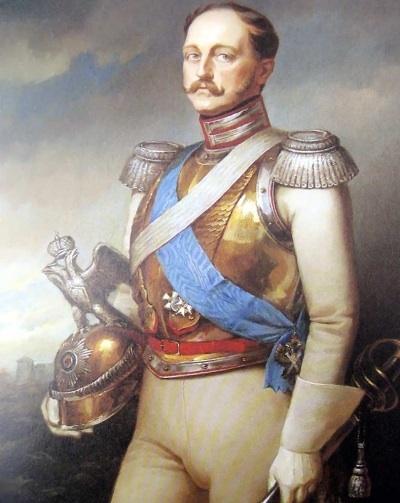 Император Николай I, делая смотр Д...