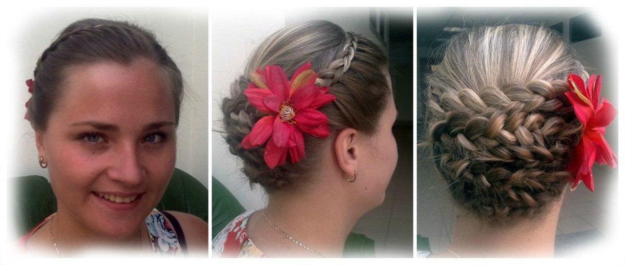 Прически, косы и макияж