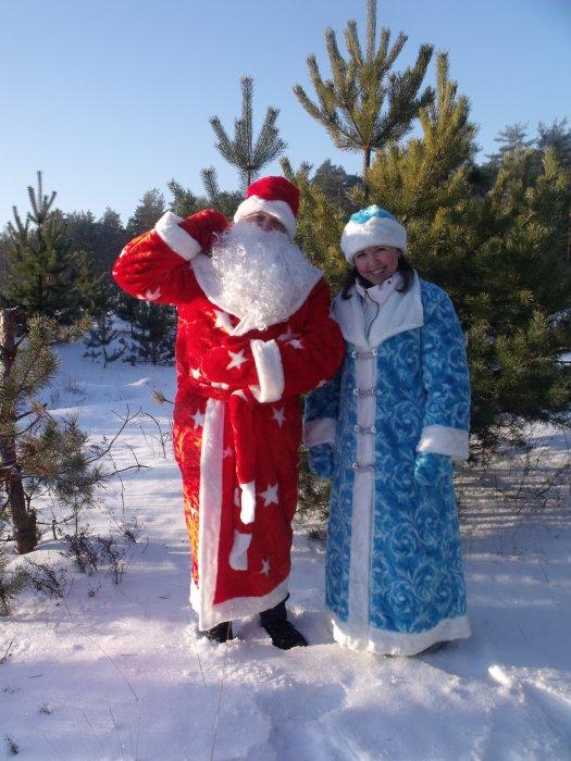 Настоящие Дед Мороз и Снегурочка на новогодние праздники!))