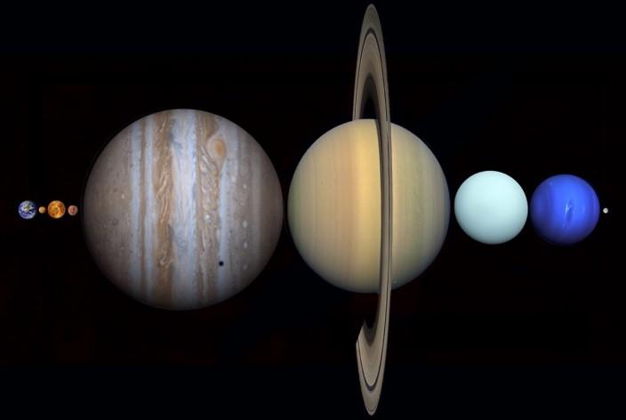 Оказывается, все планеты солнечной системы можно расположить между Землей и Луной!!!
