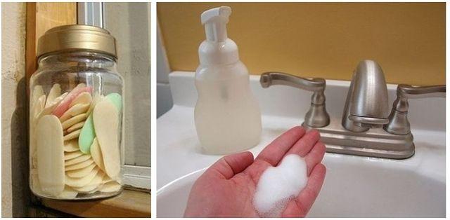 Как сделать жидкое мыло из обмылков.