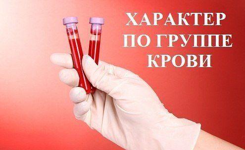 Группа крови и характер