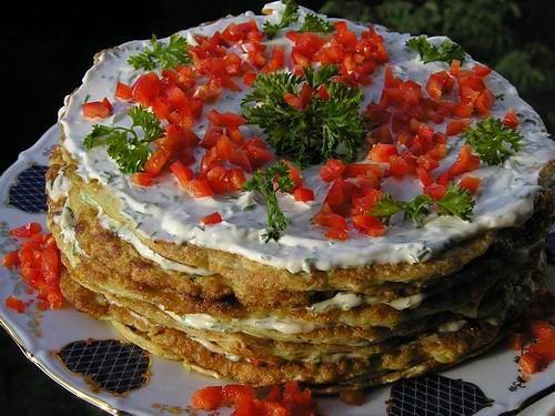 Кабачковый торт. Красивый и вкусный!