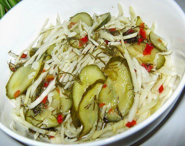 Самый вкусный салат в маринаде.