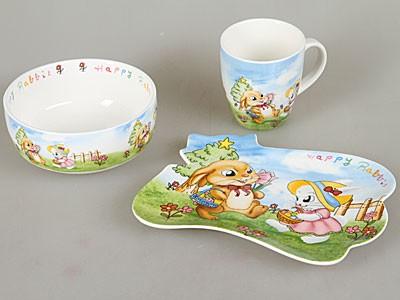 Сбор заказов. Нужно всем! Набор детской посуды: плоская и глубокая тарелка + кружка от 196 руб.