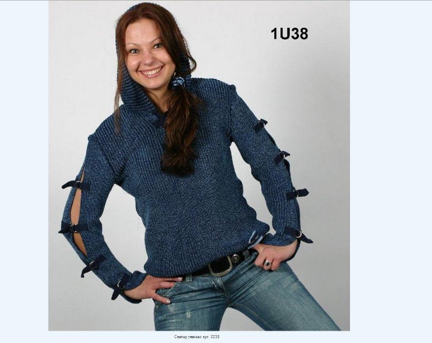 St Indig@.-трикотажные изделия из джинсовой пряжи цвета индиго