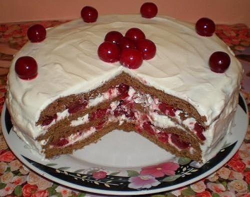 Рецепт торта Зимняя вишня
