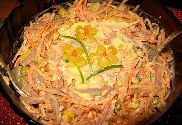 Салат из свежей морковки Очень вкусный
