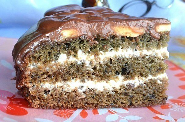 Нежный, вкусный, влажный торт Негр в пене
