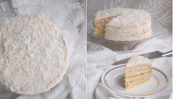 Кокосово-карамельный торт