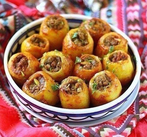 Фаршированный картофель (Батата махши