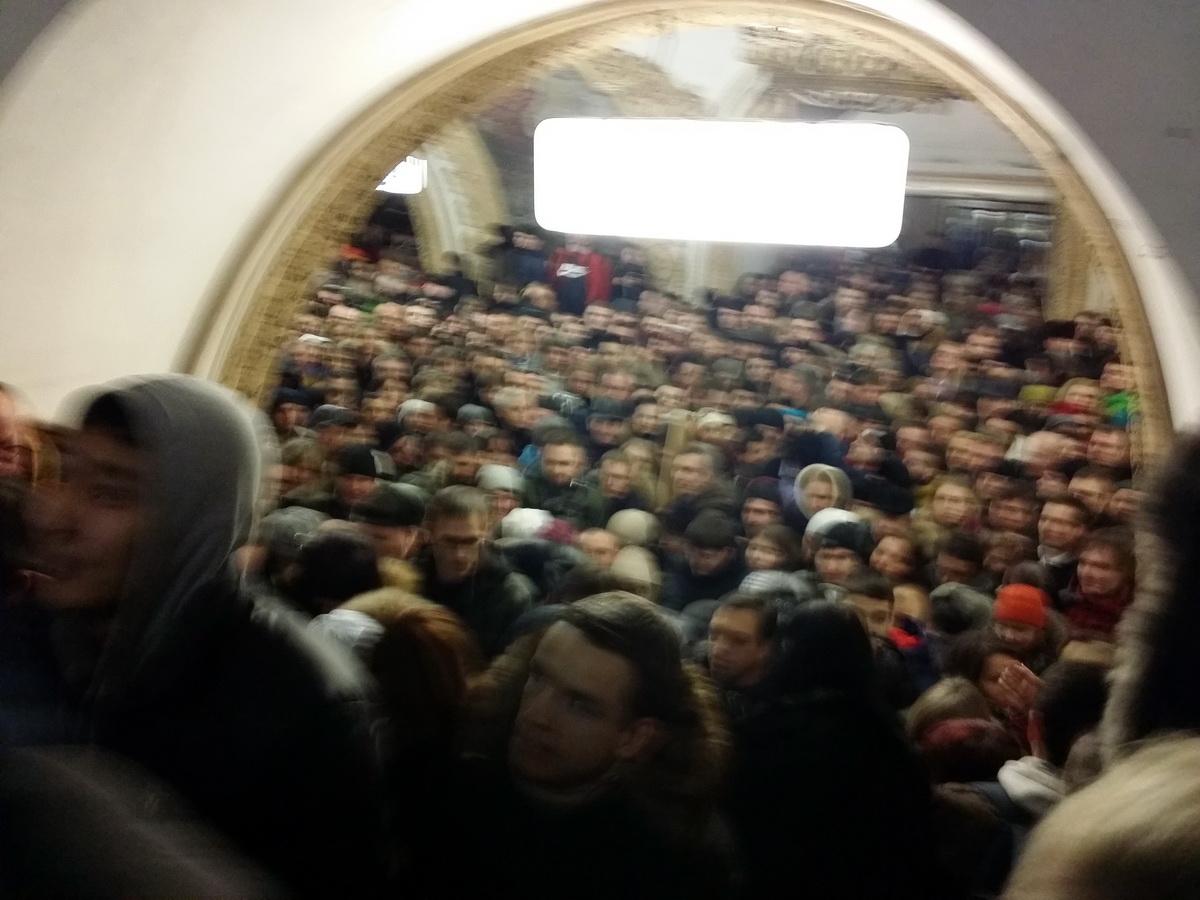 25.12.14. Ад и ужас в московском метро!