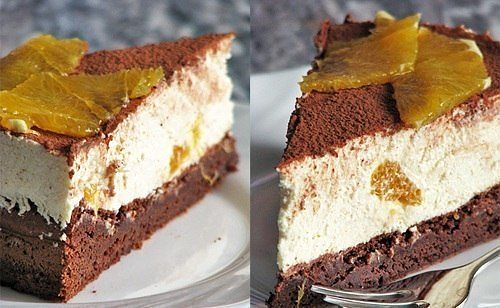 Торт-тирамису с апельсинами