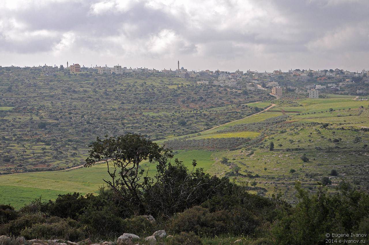 2 апреля 2014. Израиль. Гора Гильбоа - Палестина