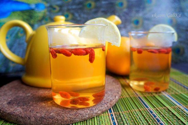 Травяной чай с ягодами годжи