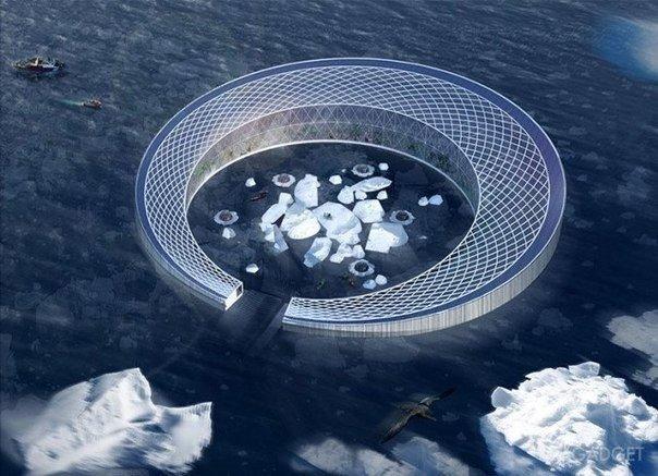 Плавучий город, питающийся айсбергами