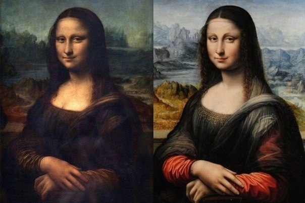 Портрет Моны Лизы работы Леонардо да Винчи...