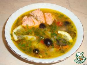Овощной суп из форели