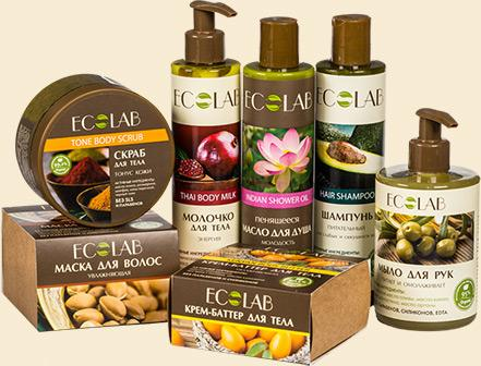 Органическая косметика EcoLab - 3. Не содержит SLS, SLES, парабены и силиконы. Цены от 80р.
