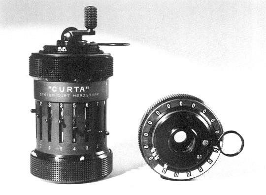 Механический калькулятор Curta