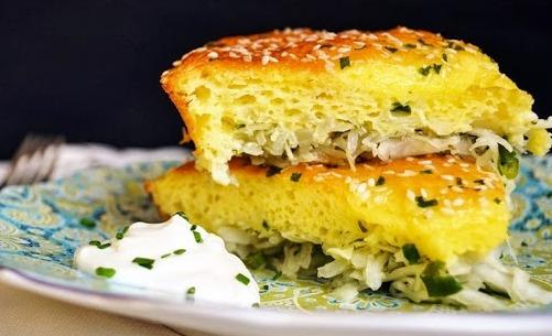 Ленивый капустный пирог быстрый и очень вкусный