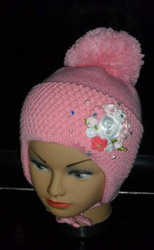 Вязанные шапки для деток осень-зима. Цены вас порадуют!