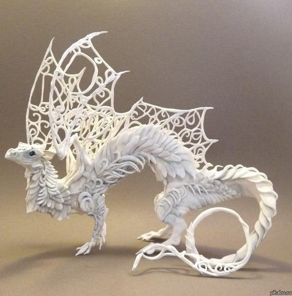 Самая красивая скульптура из пластилина