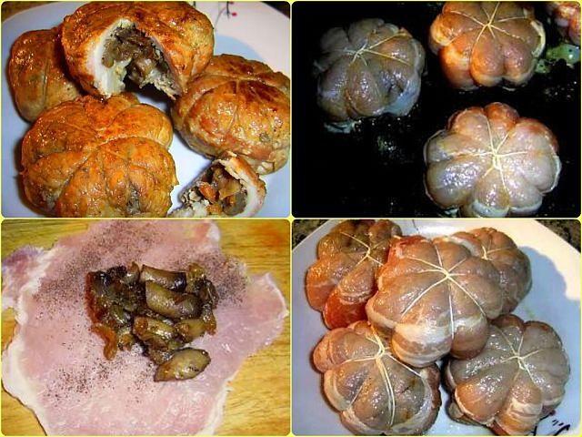 Мясные колобки с грибной начинкой